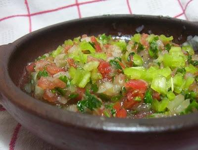 Pebre para comidas chilenas