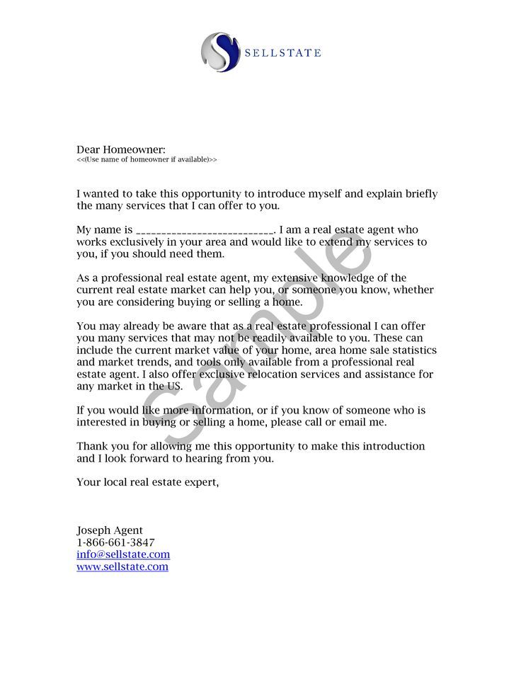 Real Estate Letters Of Introduction Introduction Letter Goruntuler Ile