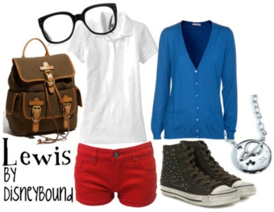Lewis from Meet the Robinsons inspired outfit. I mean, I don't do short shorts. BUT I WOULD SO WEAR THIS. :)