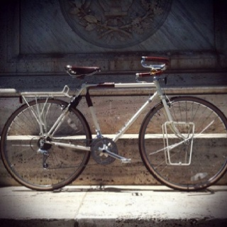 My 1986 Miyata 610 touring bike re-built, powder coated and ready to ride.
