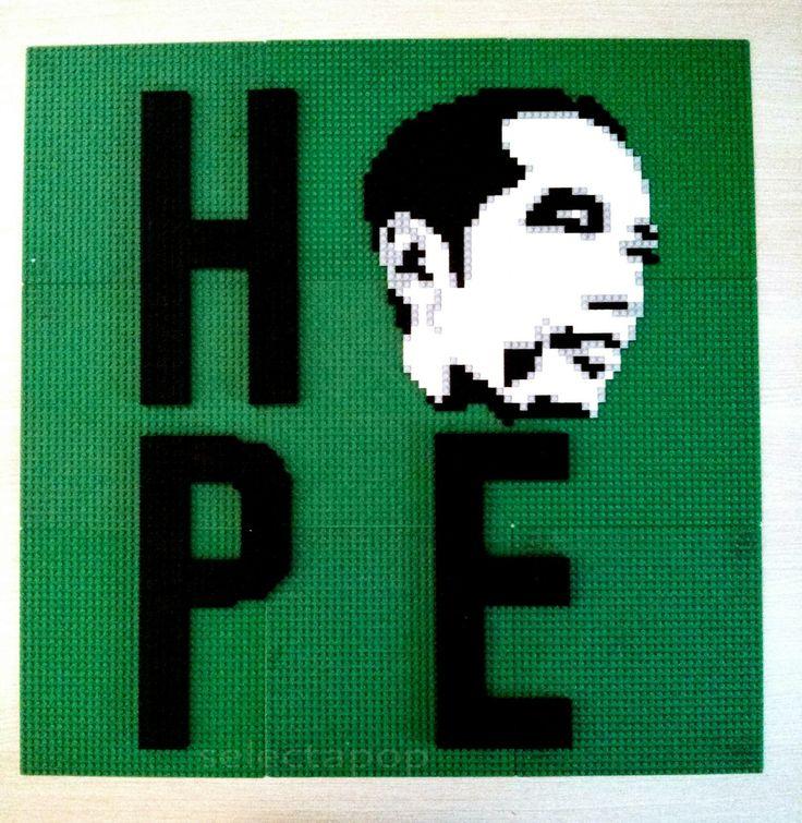 President of Indonesia on thousands pieces of Lego- Hope Jokowi  more story visit http://aulianaratama.blogspot.com/2014/10/lego-mosaik-jokowi-hope.html