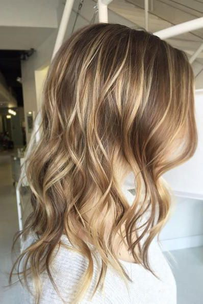 Light Brown Hair With Amber Blonde Highlights Add Some Flair To