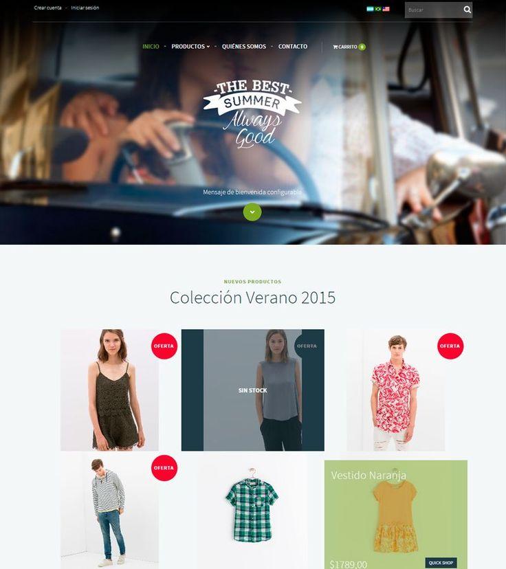 #DiseñosNube: El nuevo diseño Summer le dará a tu tienda frescura y novedad con una apariencia joven y moderna. Las formas coloridas y los contrastes harán que tus usuarios se sientan a gusto.