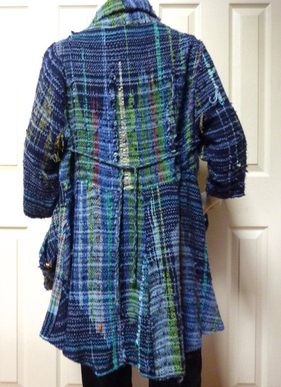 Saori woven jacket - looks like I'm going to be weaving some more to make some fabric to make a jacket.