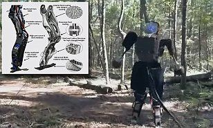 Watch Google's terrifying humanoid robot running through a forest as firm says it will soon be more agile than a human | Daily Mail Online