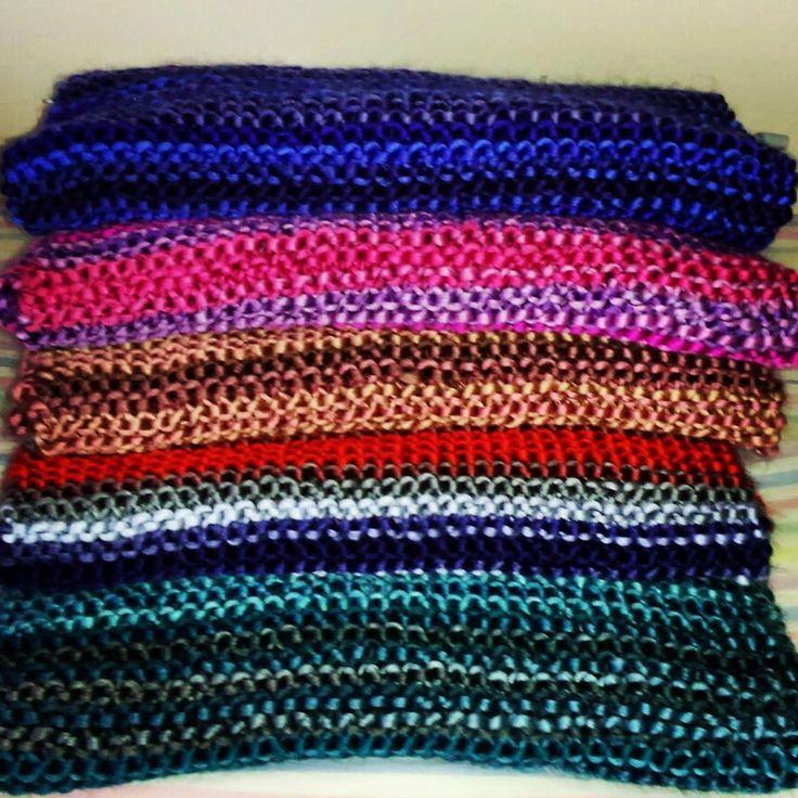 Cuellos tejidos con lana Borgo!!