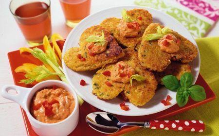Vločkovo-sýrové placičky s celerem