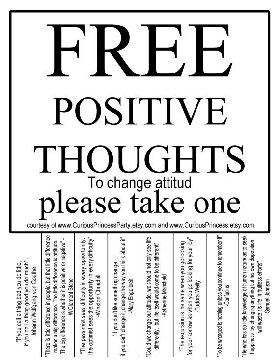 FREE positive thoughts quotes to change attitud by