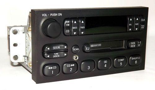 Mercury Villager 1999-02 AM FM Cassette w CD Control & Aux Input XF5F-19B132-AC
