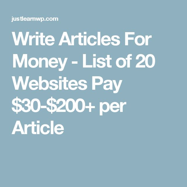 Tips That Can Help You Write Articles for Money