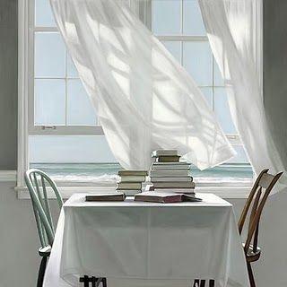 Karen Hollingsworth - Beach Read. Oil on canvas...beautiful!