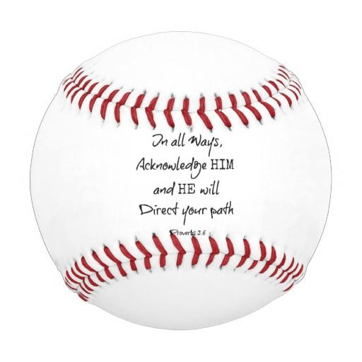 Inspirational Bible Verse Quote Baseball #bibleverse #baseballs