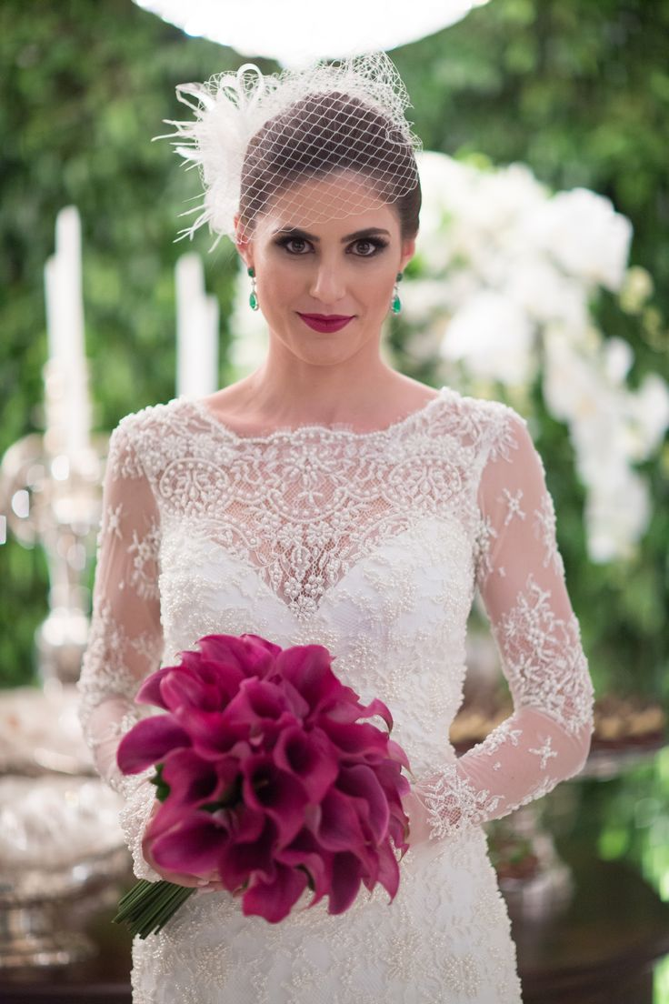 Vestido de noiva com transparência - Casamento moderno