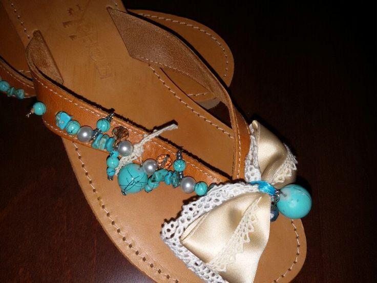 Handmade sandals.sooooo cute! !