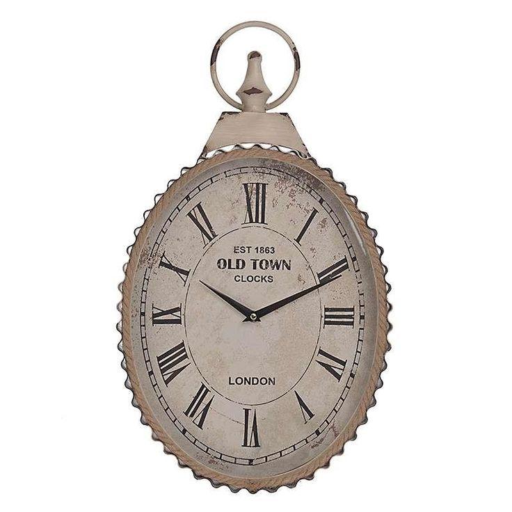 Ρολόι Τοίχου Οβάλ Metal,  Τιμή: €34,00 http://www.lovedeco.gr/p.Roloi-Toichou-Oval-Metal.869223.html