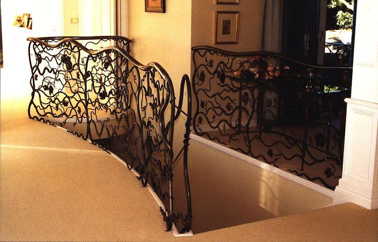 Wrought iron balustrade.