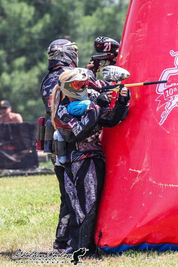 CXBL action. Canadian xball league Paintball, Paintball