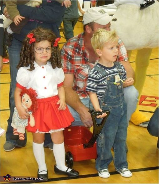 Dennis the Menace and Margaret - Halloween Costume Contest via @costume_works