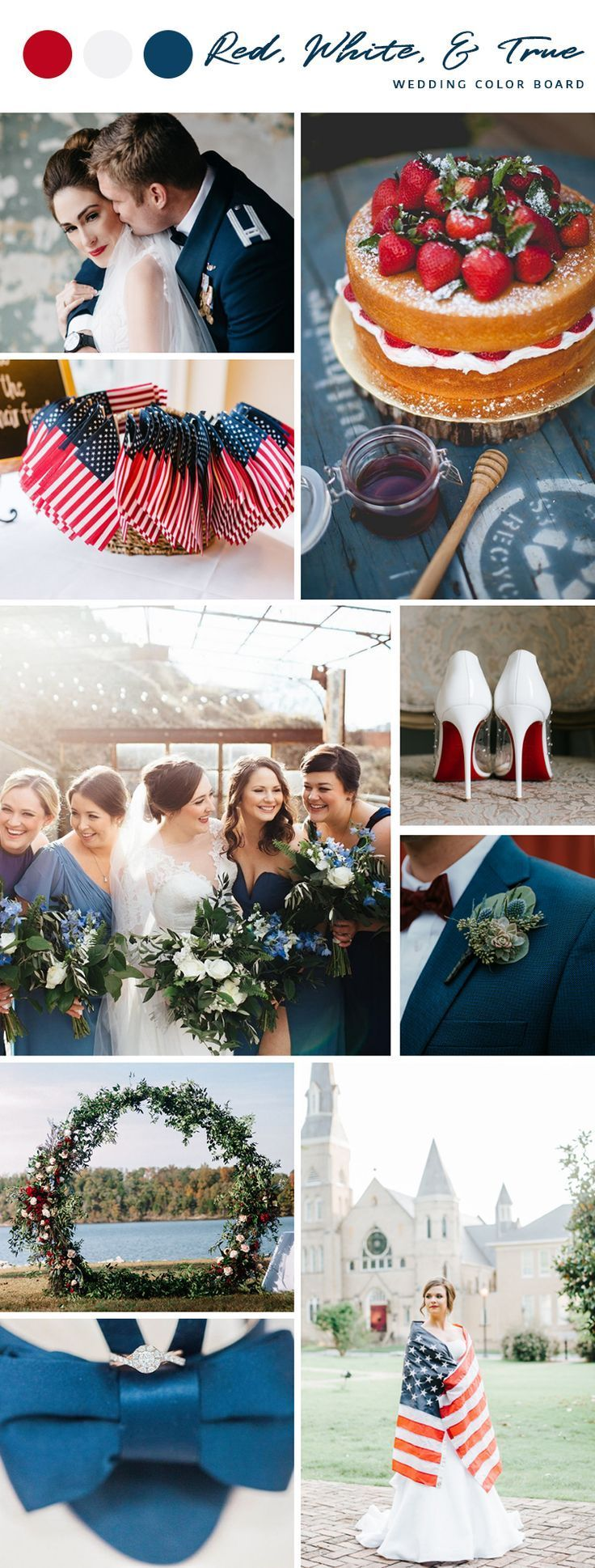 Red White & True Fourth of July Wedding Color Board July