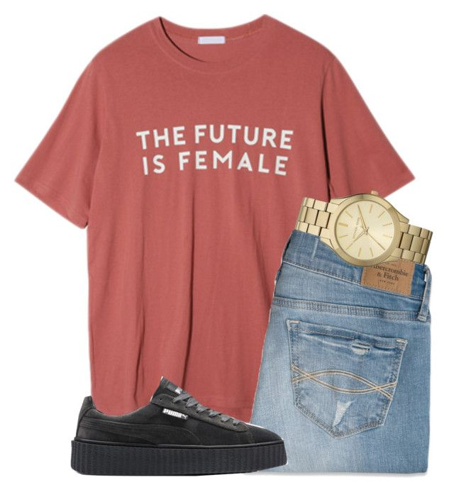"""""""untitled 124"""" by mmapp ❤ liked on Polyvore featuring StyleNanda, Abercrombie & Fitch, Puma, Michael Kors, michaelkors, puma and 2017"""