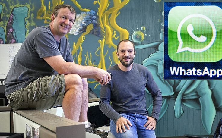 Facebook reject and immigrant on foodstamps: The Whatsapp founders #DailyMail JAN KOUM , BRIAN ACTON