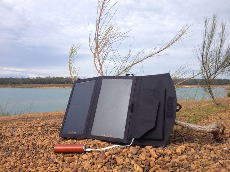 #SolarPanel Camping charging the #RawElectron #powerbank