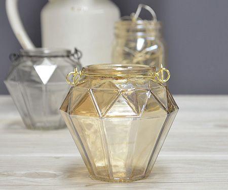Gem Gold Metallic Lantern
