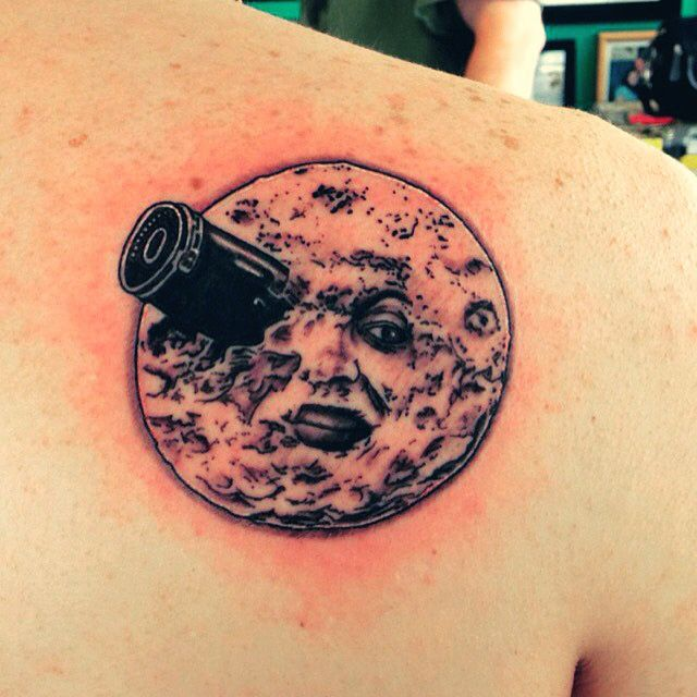 A Trip to the Moon, tattoo by Toph @ Enigma Tattoos & Body Piercing in StL, MO
