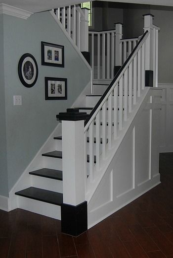 Painted Wood Stair RemodelGet 20  Painted wood stairs ideas on Pinterest without signing up  . Painted Basement Stairs. Home Design Ideas
