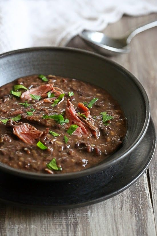 It's snowing in New York – perfect soup day! And black bean soup is a hearty, filling, fiber-rich soup. The kind of soup that sticks to your bones on a…