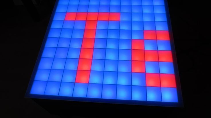 100Pixel RGB-LED Tisch - Interaktiv (Touch)