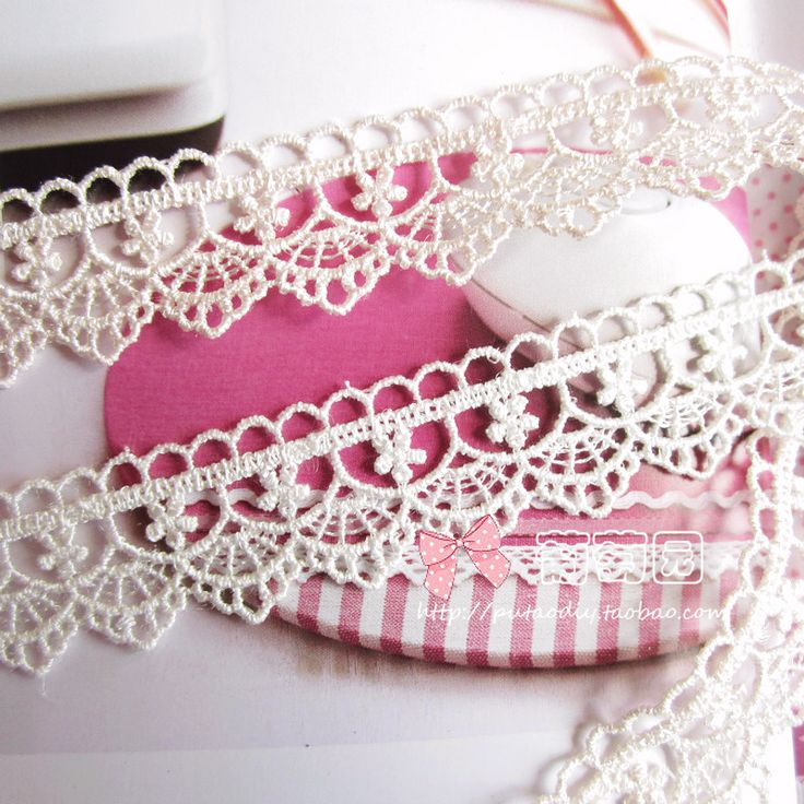 DIY håndlaget silke blondere materiale Små blomster Bølge til Farger - Taobao