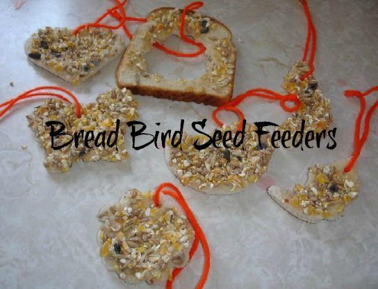 Bread Bird Seed Feeders from 2 Big, 2 Little