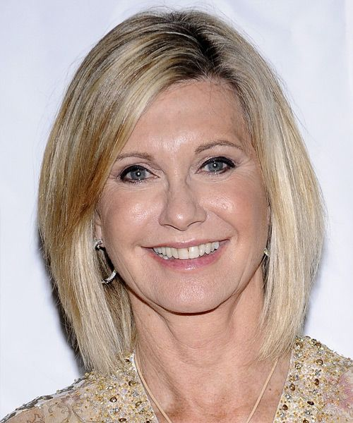 Olivia Newton John Medium Straight Formal Hairstyle - Medium ...