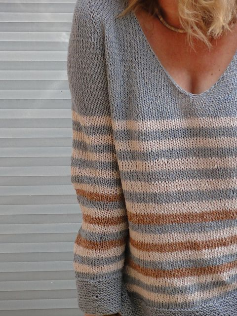"Ravelry: baggel's version of  ""On The Beach by Isabell Kraemer - summer sweater"