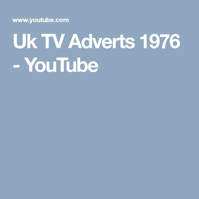 Uk TV Adverts 1976 - YouTube