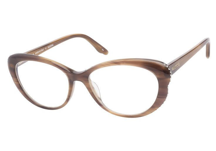 Valentino V2602R 236 Striped Brown eyeglasses. Get low prices, superior customer service, fast shipping and high quality, authentic products. from @ClearlyContacts