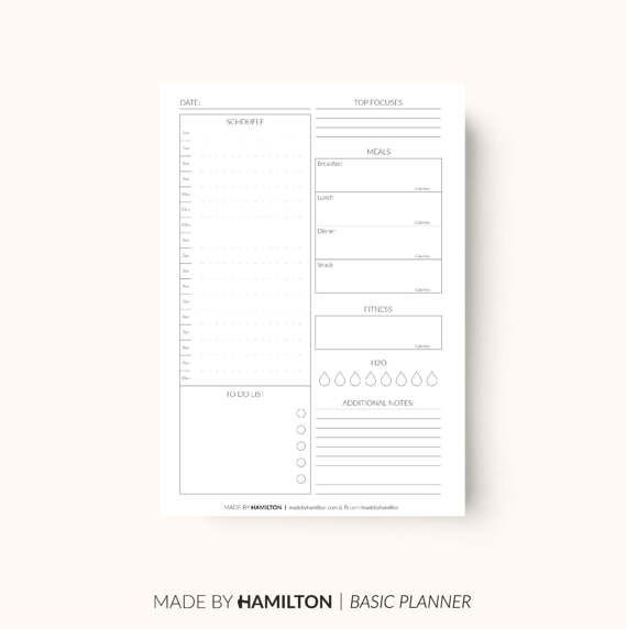 Printable products to promote organisation, happiness and growth. _____________________________________________________________________________________  THE PACKAGE:  - Daily Fitness Planner - Basics Range (A4) - Daily Fitness Planner - Basics Range (A5) - Daily Fitness Planner - Basics Range (US Letter)  _____________________________________________________________________________________  Co-ordinate your planner with matching Monthly, Weekly, Daily Planners along with additional planner…