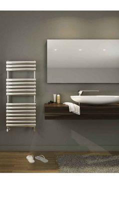 DQ Heating Cove Stainless Steel Vertical Designer Heated Towel Rail Radiator