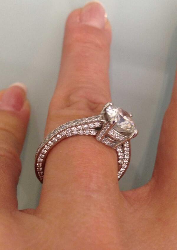 real ritani engagement rings french set diamond band love the band - Real Diamond Wedding Rings