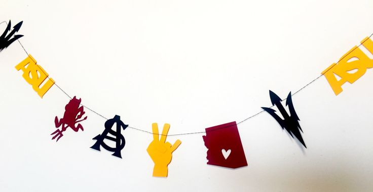 ASU / Arizona State University Garland / Bundting by LouCatStudio on Etsy https://www.etsy.com/transaction/1201250757
