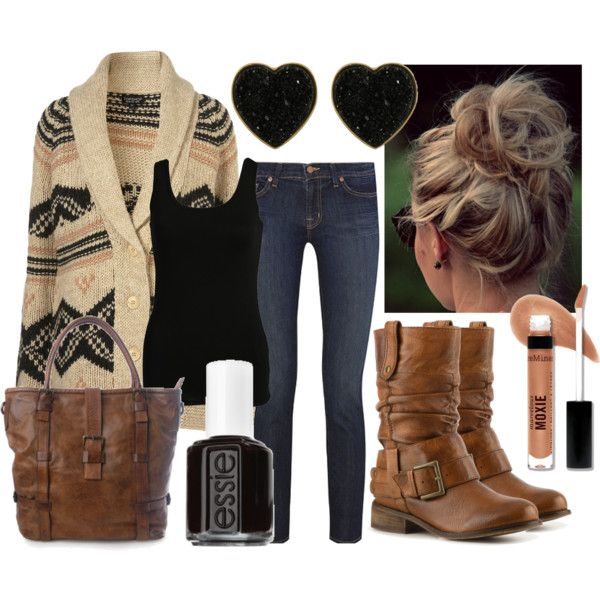 Black, Brown, & Buckles, created by qtpiekelso on Polyvore