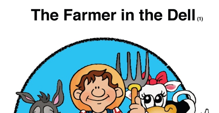 Free Farmer in the Dell printable cards.