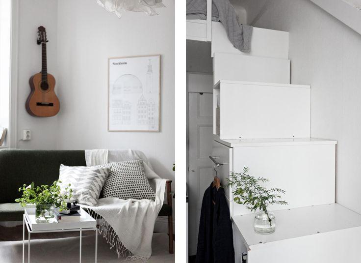 Jurnal de design interior: Pat deasupra bucătăriei într-o garsonieră de 19 m²