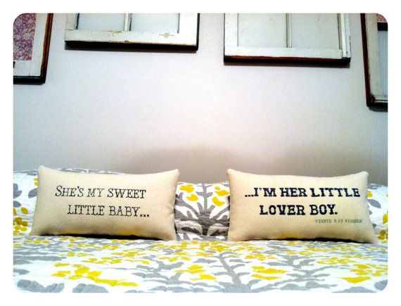 If you'll be my soft and sweet  I'll be your strong and steady  You'll be my sunny day  I'll be your shade tree  You'll be my honeysuckle  I'll be your honey bee: Anniversary Pillows, Sweet, Customizable Pillows, Cute Pillows, Lyric Pillows, Lyrics, Stevie Ray Vaughan, Craft Ideas, Bedroom