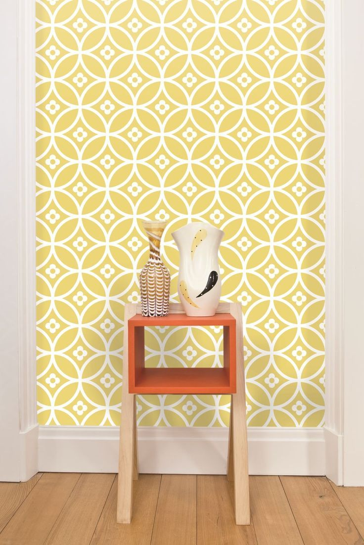 geometric wallpaper kitchen wallpaper designs Daisy Chain geometric wallpaper design by Layla Faye
