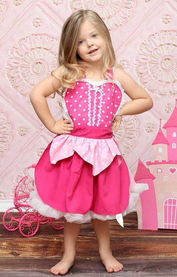 apron Sleeping Beauty  Aurora pink APRON by loverdoversclothing, $26.00