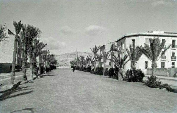 Paseo Del General Marvá En 1935 Alicante España Alicante Fotografía Antigua