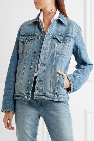 FRAME - Le Jacket Oversized Denim Jacket - Blue - small