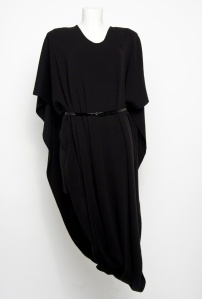 Lana Wrap Black - The new style layer by L FOR LAZARUS, shown with belt. Available Autumn 2012.